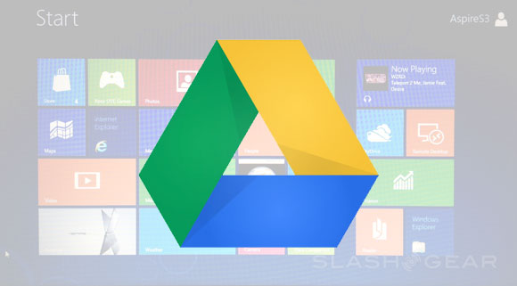 Windows 8 Release set with Google Drive