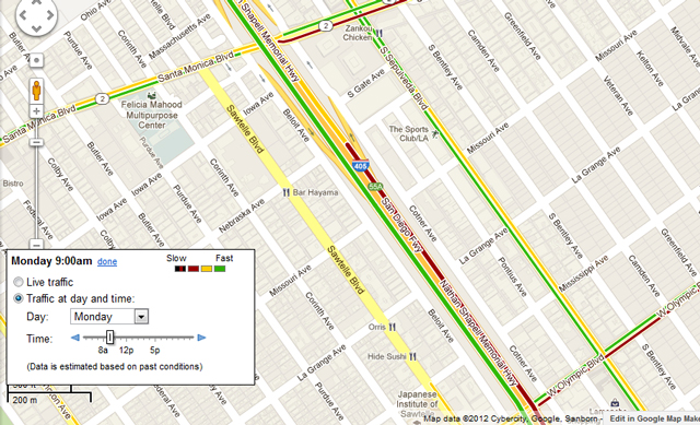 Google Maps traffic footprint expands