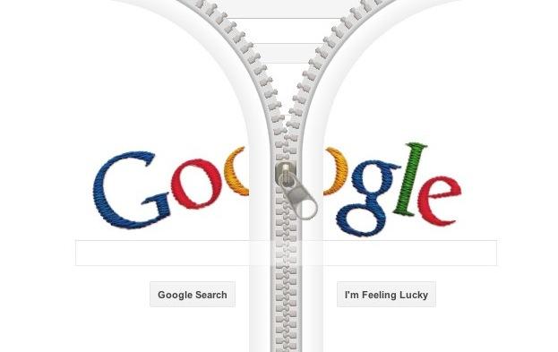 Google Doodle HTML5 zipper celebrates Gideon Sundback