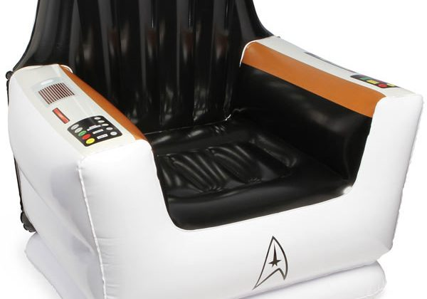 ThinkGeek Inflatable Star Trek Captain's chair isn't a prank