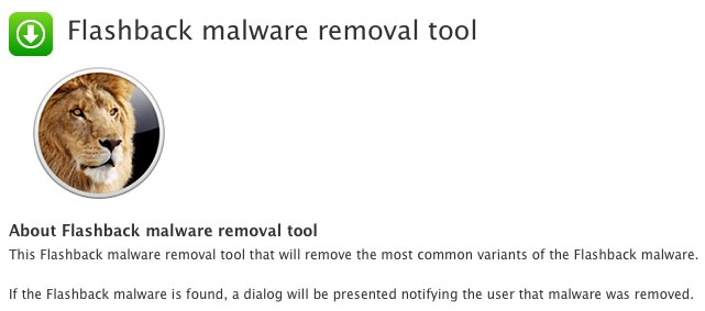 New Apple Flashback removal for non-Java Lion Macs released