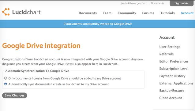 Lucidchart leak reveals Google Drive integration