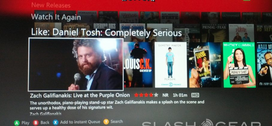 Netflix Xbox 360 update adds zoom options and Facebook integration