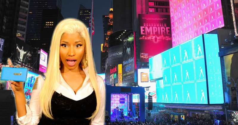 Nokia and Nicki Minaj light NYC for Lumia 900 debut