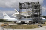 Space shuttle Discovery hitches its last ride on a jumbo jet