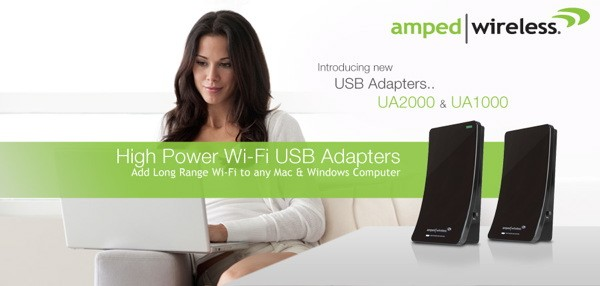 Amped Wireless boosts WiFi signals with two new USB adapters
