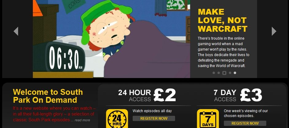 South Park On Demand launches in UK