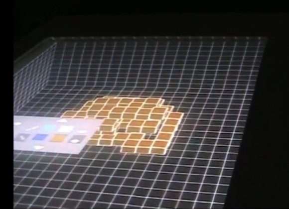Multi touch table achieves 3D effect using Kinect