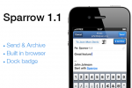 "Sparrow for iPhone updated to 1.1: push coming ""with or without Apple"""