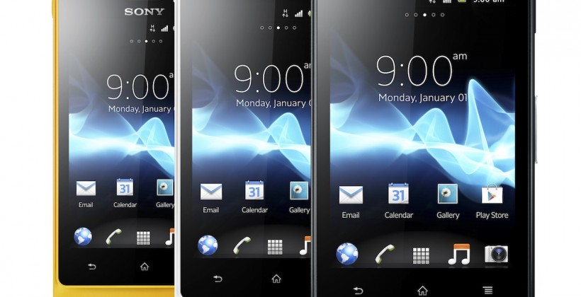 Sony Xperia go and acro S deliver waterproof Android