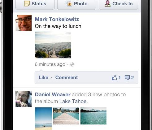 Facebook goes big with mobile update