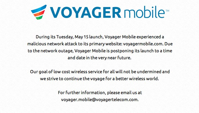 "Voyager Mobile delays launch after ""malicious network attack"""