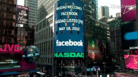 Facebook IPO hits third-biggest of all time [Live Stream]