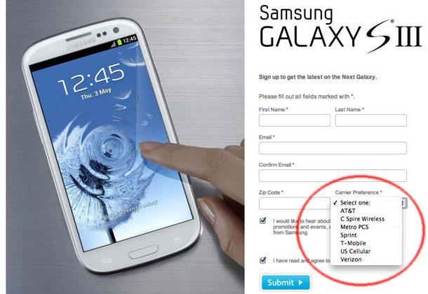 Galaxy S III USA carriers leaked