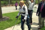 ReWalk Exo-skeleton gets paraplegics walking again