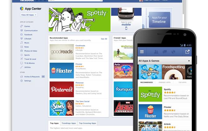 Facebook App Center wraps apps in social