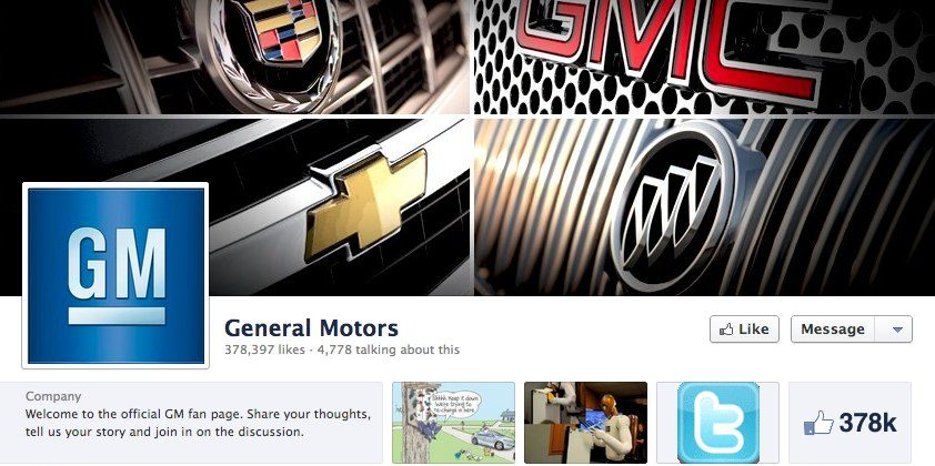 General Motors ditches Facebook advertising
