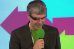 Larry Page sports Project Glass in England