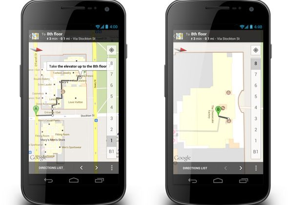 Google Maps for Android gets indoor walking directions