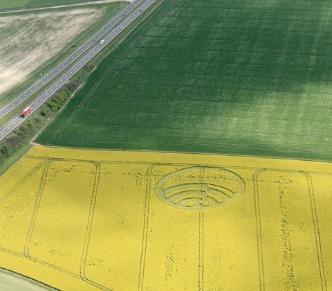Spotify appears in Stonehenge crop circles