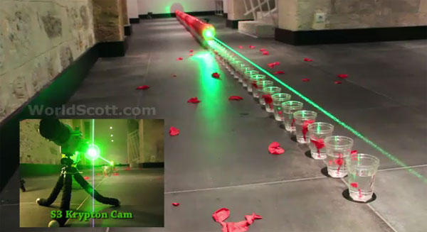 Geek tries to set balloon popping record using a laser
