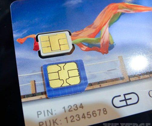 Apple modified nano-SIM spied at CTIA