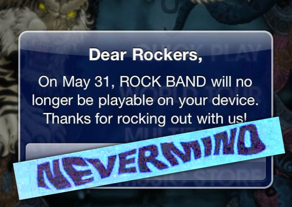 EA recants on Rock Band