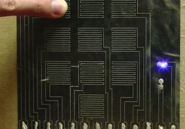 Researchers create disposable paper touch pads