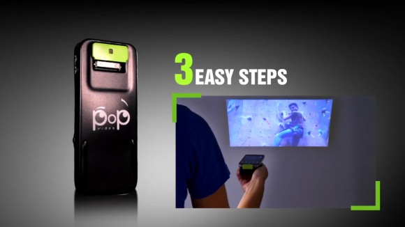 Pop Video iPhone projector beams qHD for $99