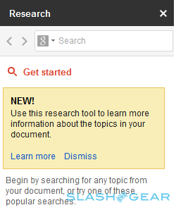 Google adds new Research feature to Docs