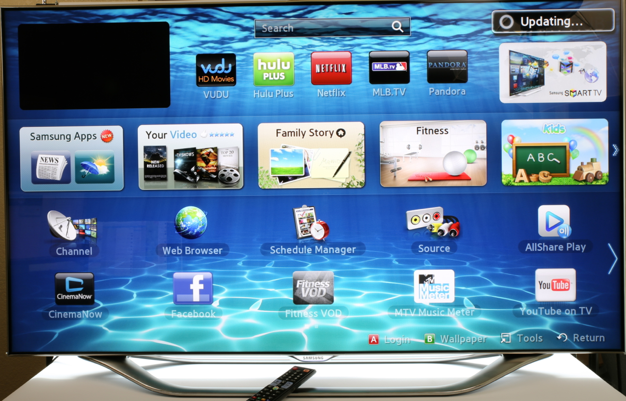 Samsung Smart TV Voice, Gesture and Face Recognition Hands