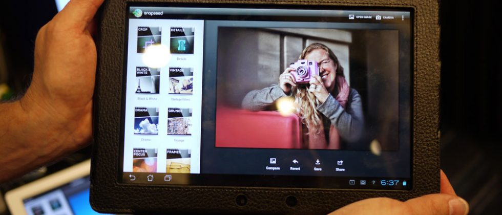 Snapseed for Android hands-on with ASUS Transformer Prime