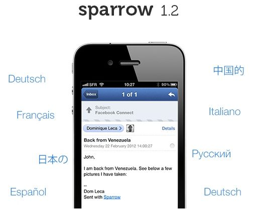 Sparrow 1.2 released: Apple denies push request