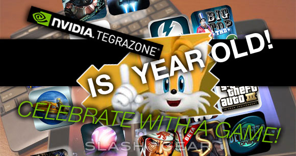 NVIDIA TegraZone Anniversary Reminder – Celebrate with Sonic!