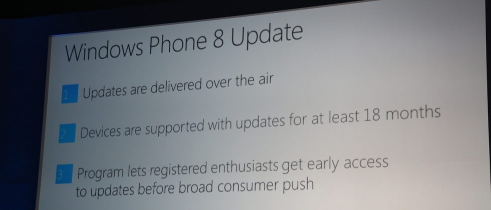 Windows Phone 8 devices get 18 month update promise