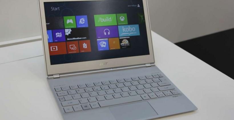Acer Aspire S7 touchscreen ultrabook hands-on