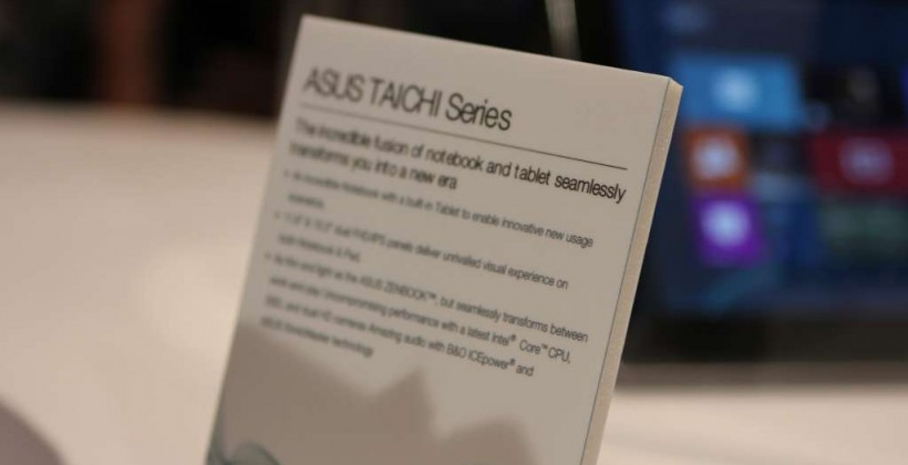 ASUS TAICHI laptop/tablet hybrid hands-on