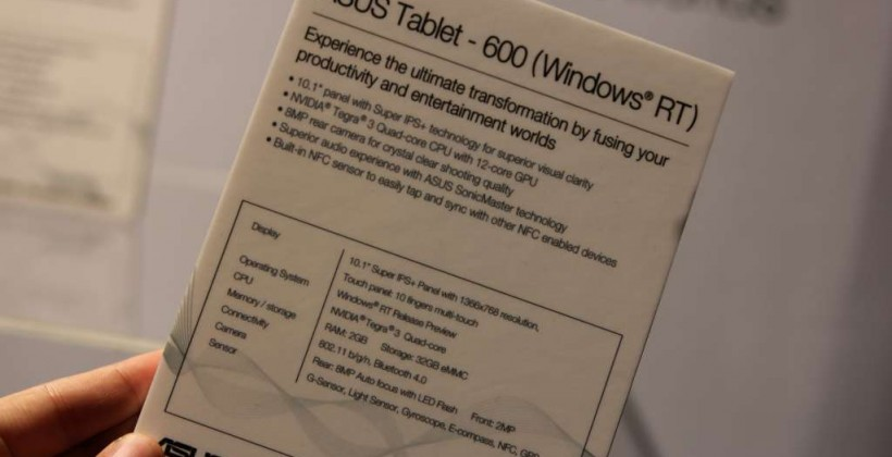 ASUS Tablet 600 and Tablet 810 hands-on