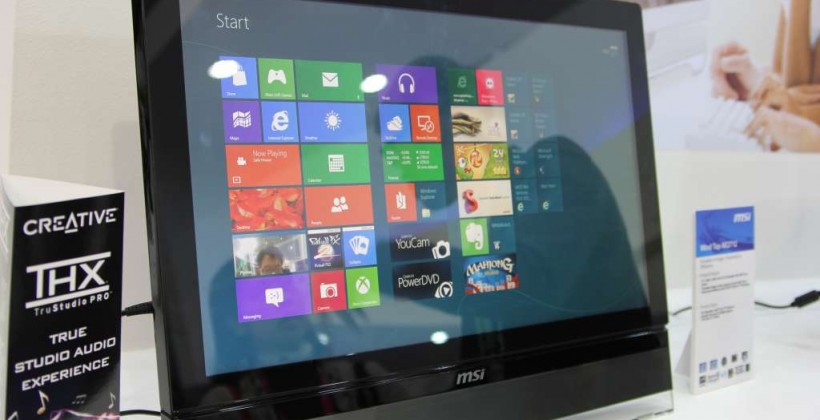 MSI Wind Top AE2712 Win8 all-in-one hands-on