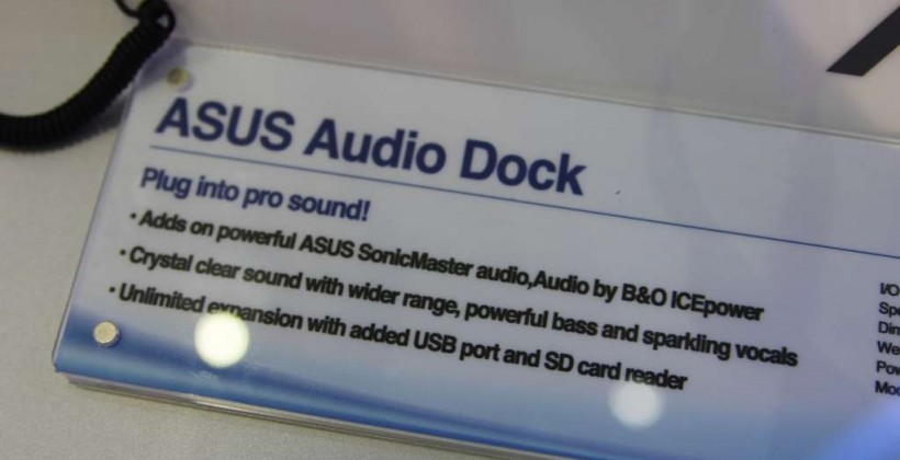 ASUS Audio Dock hands-on with Transformer Prime