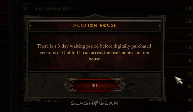 Diablo III Real Money Auction House officially launched