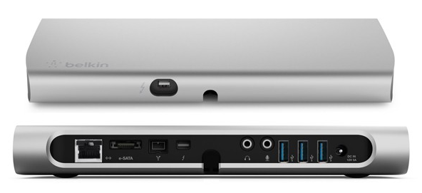 Belkin Thunderbolt Express Dock upgraded before drop