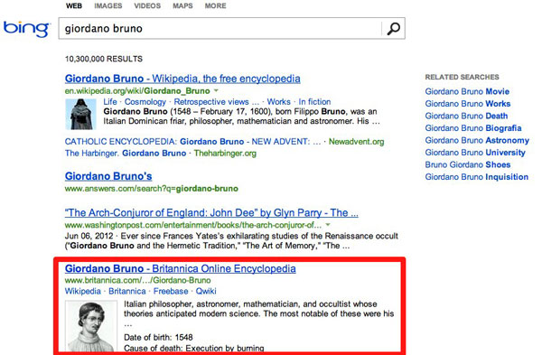 Bing adds Britannica Online Encyclopedia answers to search