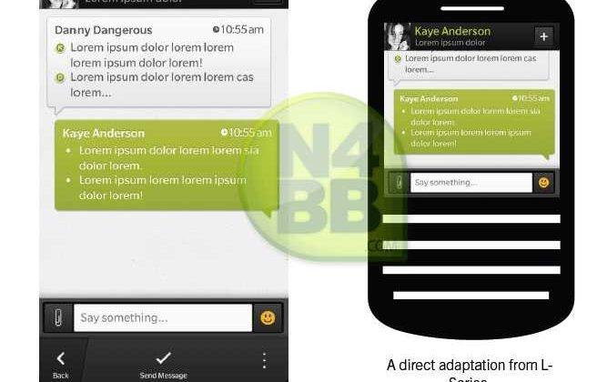 BBM design for BlackBerry 10 leaks