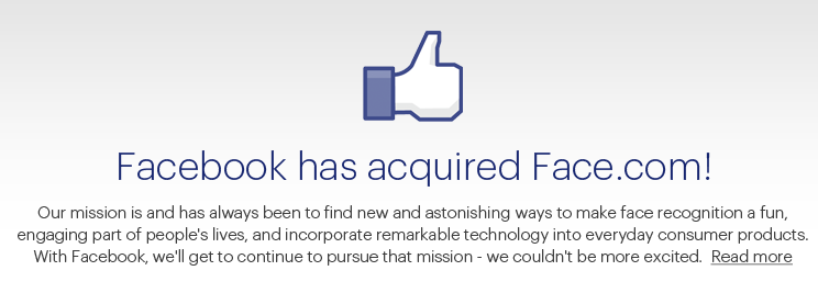 Facebook's $100M Face.com deal official