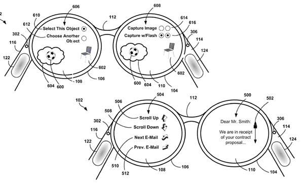 Project Glass trackpad patent shows glasses' touchiness