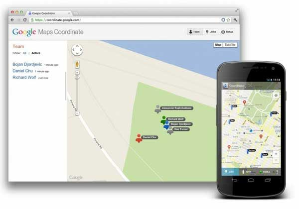 Google Maps Coordinate lets you keep an eye on mobile workers