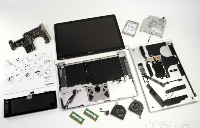 iFixit tears down new MacBook Pro, compares it to Retina