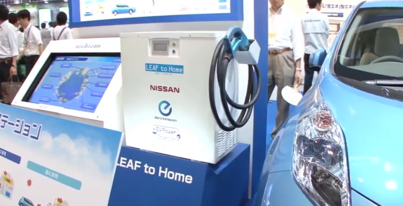 Nissan LEAF battery to power homes
