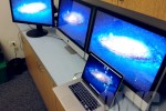 Retina MacBook Pro 4-monitor setup revealed